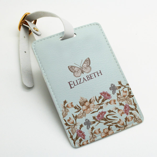 personalised pu leather luggage tag office tag travel tag school bag tag