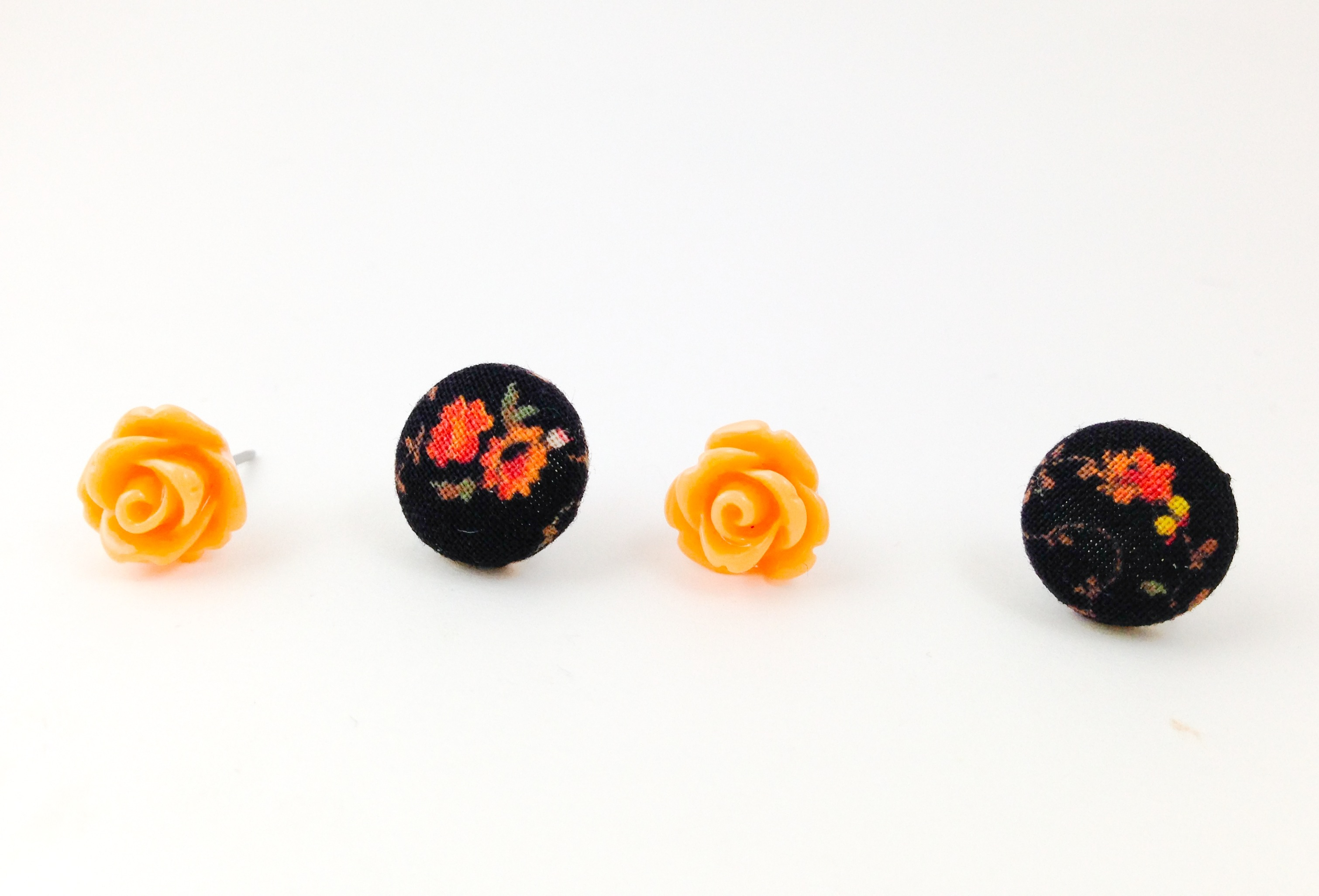 how to make fabric button earrings