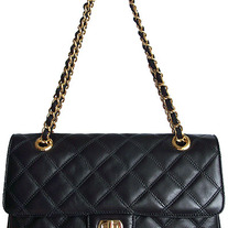 Italian Designer Leather Bag (Chantal - Black )