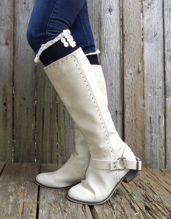 Lace Trim Boot Socks Lace Boot Socks With Vintage