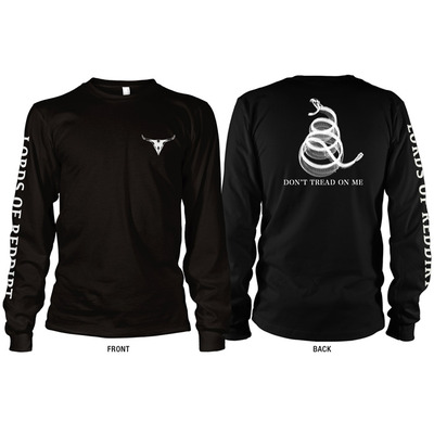 Black sidewinder long-sleeved shirt