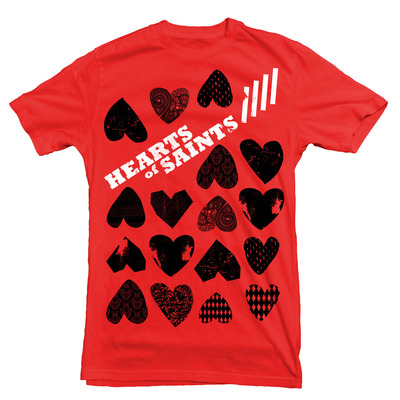 Hearts red t