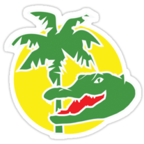 Florida Alligator Logo Sticker