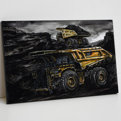 Haul truck mounted print #2