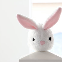 White Bunny Rabbit Plush Toy - Cindy - adorable cute soft white stuffed animal softie