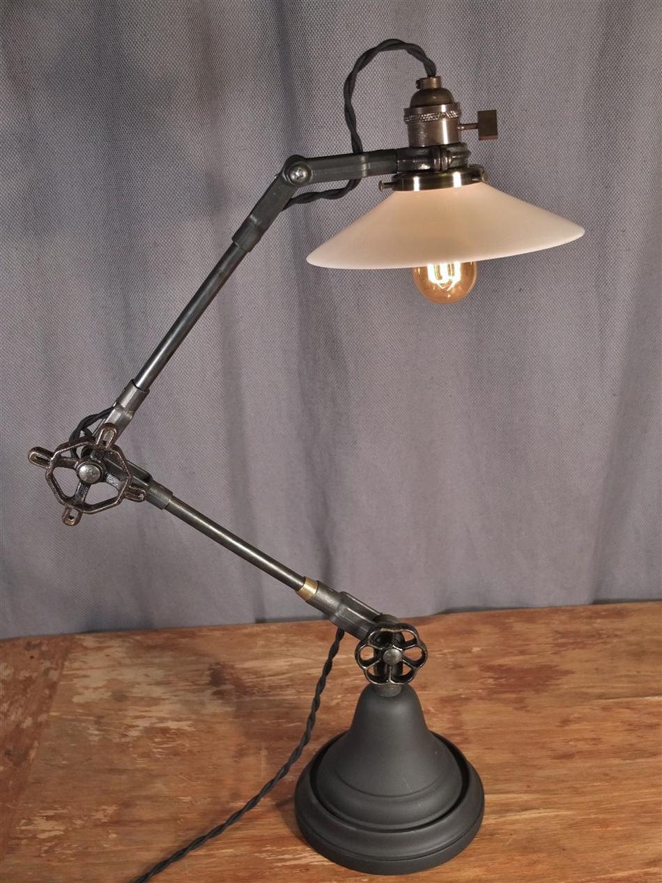 Antique desk lamps -  Vintage Industrial Style Desk Lamp Thumbnail 3