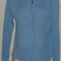Light Blue Hooded/Zip Sweater-Lilo Maternity Size Large