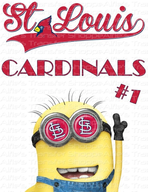 St Louis Cardinals Featuring Minion Iron On Heat