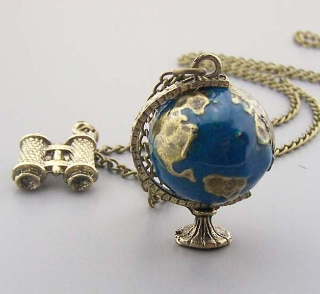 Globe necklace telescope necklace vintage world globe jewelry planet globe necklace telescope necklace vintage world globe jewelry planet earth world map art pendant kid necklace gumiabroncs Image collections