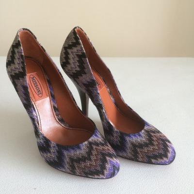 3a986c07b Size 6.5 Emilio Pucci Mixed Media Peep Toe Pumps · Wooden Hanger ...