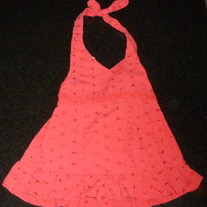 Red Halter Top-Al&Ray Size 4T