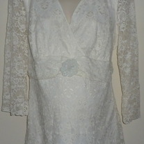 White Lace Top-Motherhood Maternity Size 2X