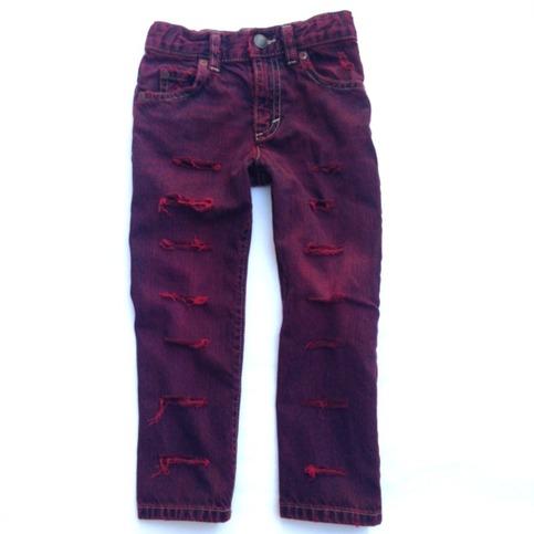 "Custom Made to Order ""Purple Rain"" Distressed Denim Jeans ..."