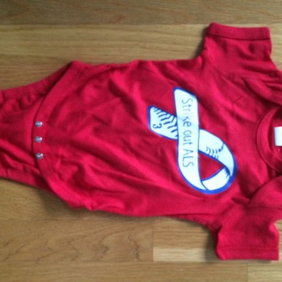 Red frate train #3 short sleeve baby onesie