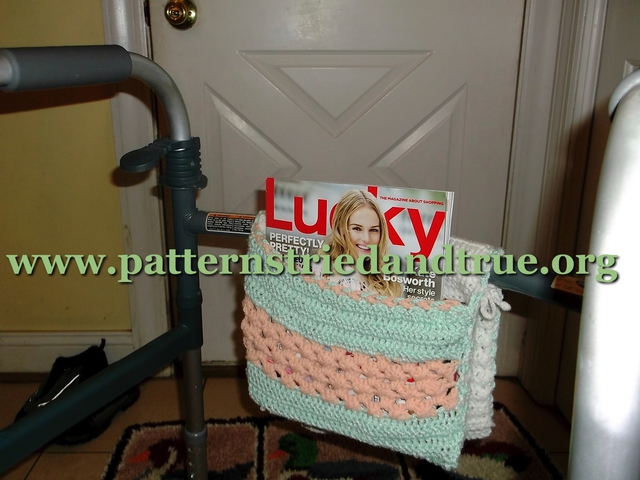Crochet Pattern Diy For Wheelchair Walker Tote Patterns Tried And