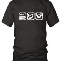 Youtube, Twitter, and Instagram T-shirt