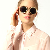 Gold Pearl Sunglasses