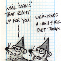 Sketch Card: Gnome Weasels