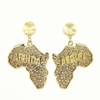 Africa Gold Earrings