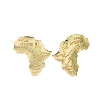 Africa Map Post Earrings