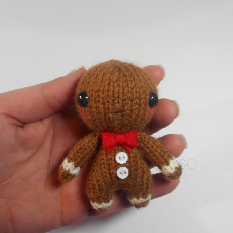 Amigurumi Wool : CLEARANCE - Amigurumi Knit Gingerbread Man Plush ...