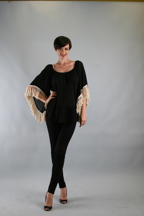 Green Apple | VaVa by Joy Han Amy Tassel Top Black | Online Store Powered by Storenvy from shopgreenapple.storenvy.com