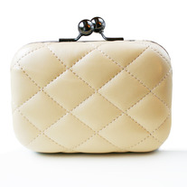 Quilted Clutch - Black or Cream