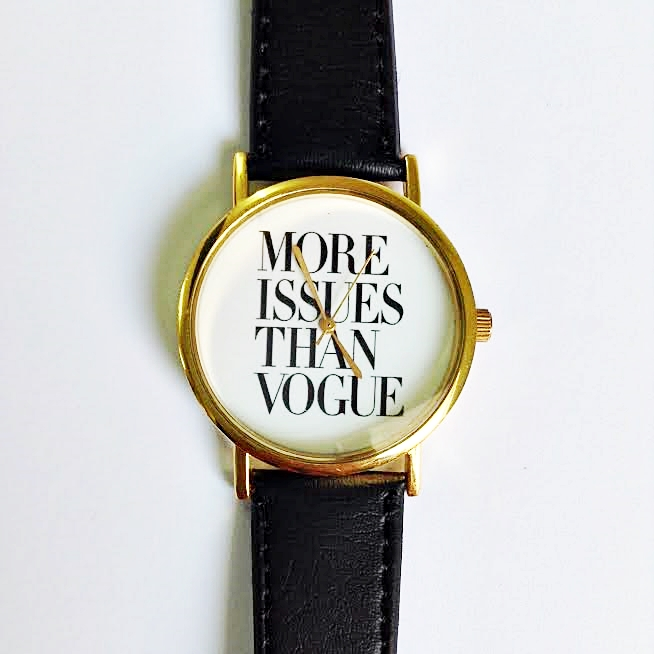 more issues than vogue watch vintage style leather watch women more issues than vogue watch vintage style leather watch women watches boyfriend watch