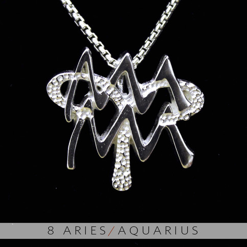 The Aries And Aquarius Silver Unity Pendant On Storenvy