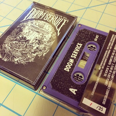 "Doom service - ""i want to believe in doom service"" ep tape limited/ 35"