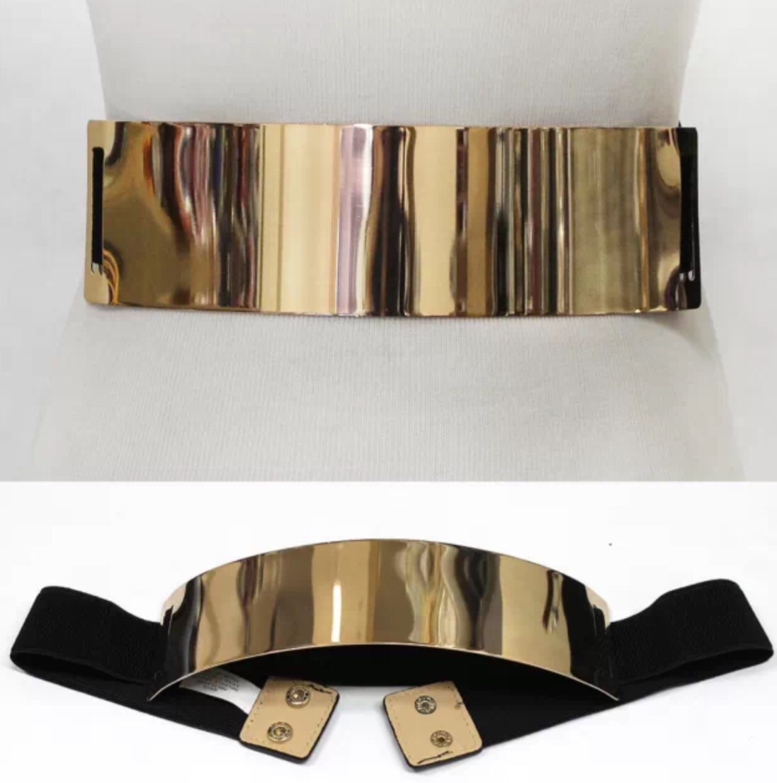 wide gold plate belt 183 trendy wendy z boutique 183