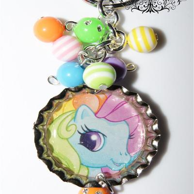 Pony tails inspired bottle cap key chain