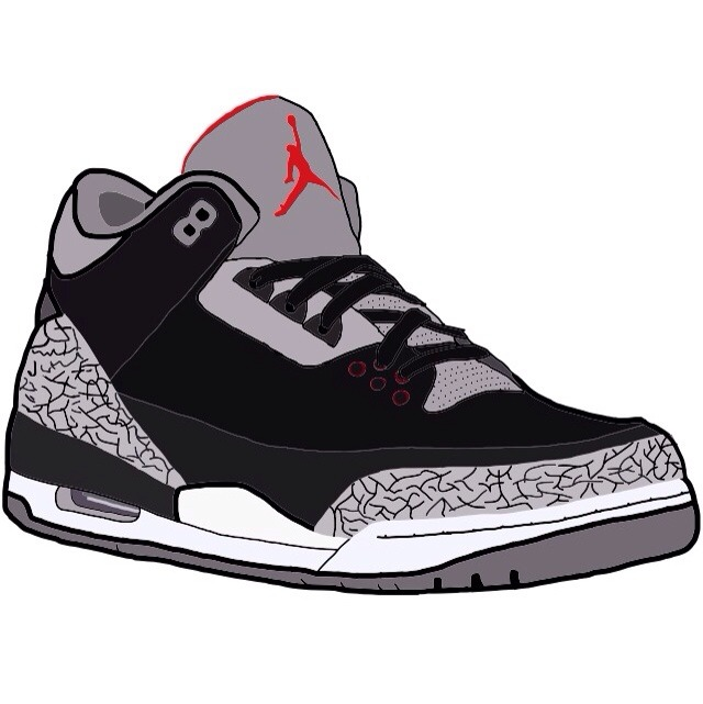 Black cement iii · kartoon kicks · online store powered by storenvy