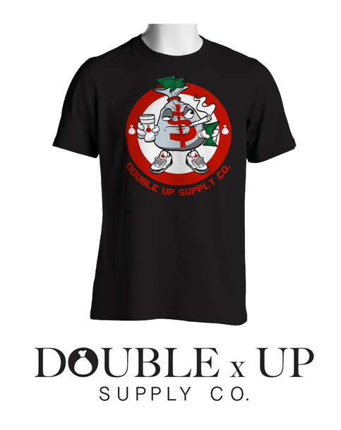 Money man t shirt double up supply company online for Online tee shirt companies