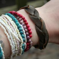 boho braided leather bracelet