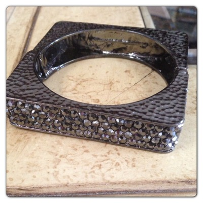 Black square bangle