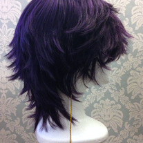 Scruffy Purple Wig