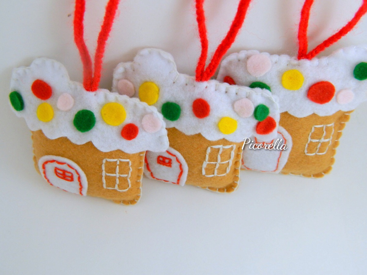 Christmas felt ornaments -  Ginger House Ornament Felt Christmas Ornaments Felt Ginger House Christmas