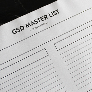 GSD MASTER LIST NOTEPAD