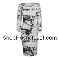 Tie Dye Splash Effect Print Bodycon Dress