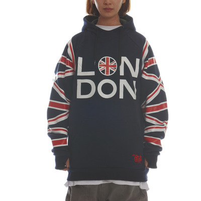 [season off sale] ehoto ski & snowboard signature hoodie - london (navy)