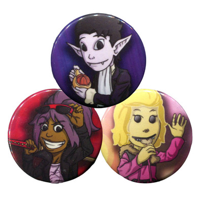 Transyltown button and keychain set