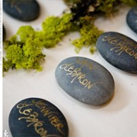 100 Wishing Stones - (Natural) Guest Book Alternative - Unique, Fun, & Eco Friendly - Thumbnail 1