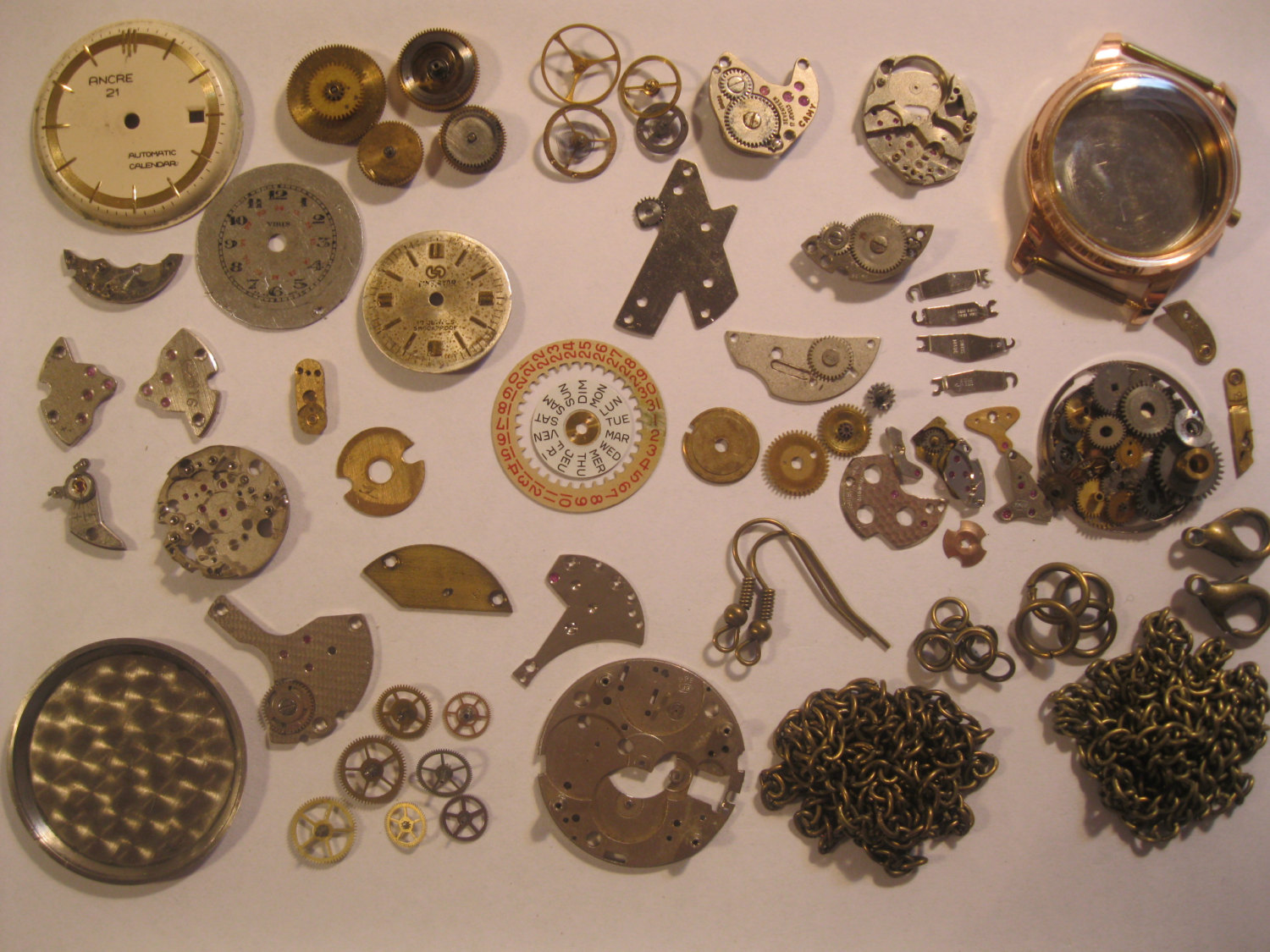 Mini steampunk starter kit watch pocket watch parts 75g for Steampunk arts and crafts