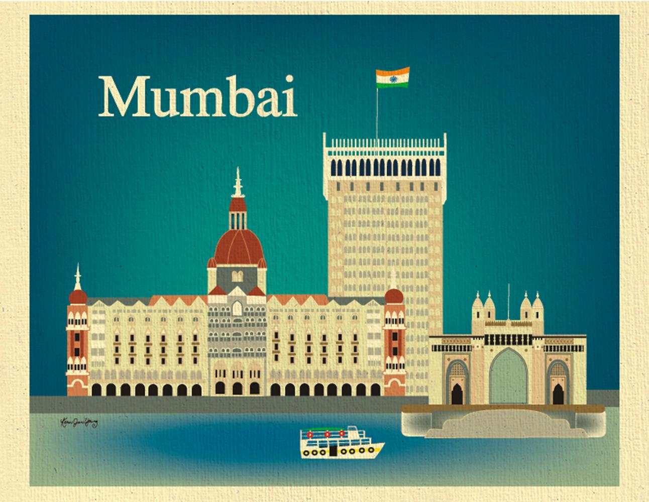 Mumbai, India 11 x 14 Poster - Gateway of Mumbai Print Wall Art for ...