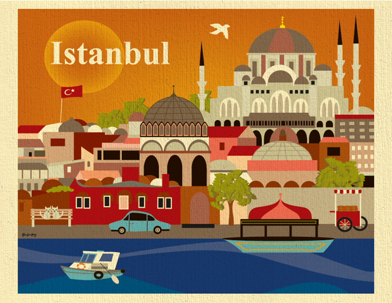Turkey home office Istanbul Istanbul Turkey Skyline European Destination Travel Wall Art Poster Print For Home Office Loose Petals Storenvy Istanbul Turkey Skyline European Destination Travel Wall Art