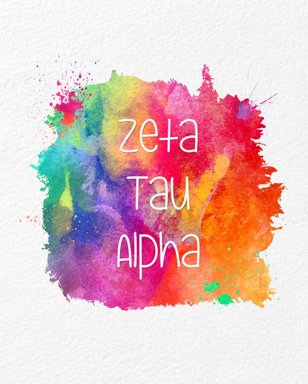 Zeta Tau Alpha Desktop Wallpaper Watercolor Art Zeta Ta...