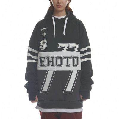 [season off sale] ehoto ski & snowboard eds hoodie - fortune (black)