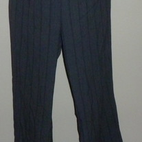 Gray Pin Stripe Pants with Silver Band-Motherhood Maternity Size XL