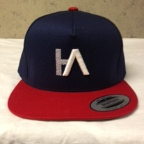 HA Navy & Red Snapback